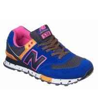 New Balance 574 Blue/Orange/Pink