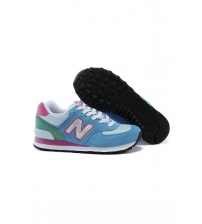 New Balance 574 Light Blue/Pink/Green