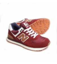 New Balance 574 Cherry/Red/White