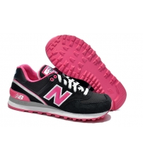New Balance 574 Black/Pink/White